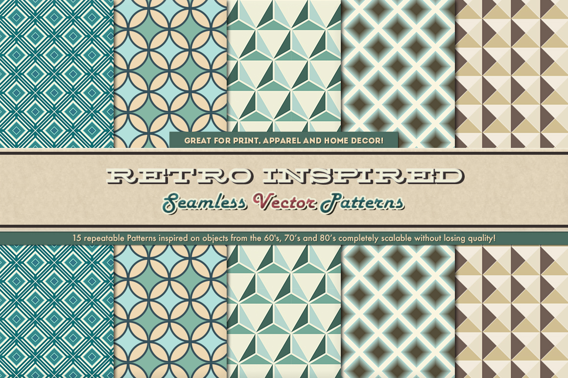 Retro Inspired Vector Patterns example image 4