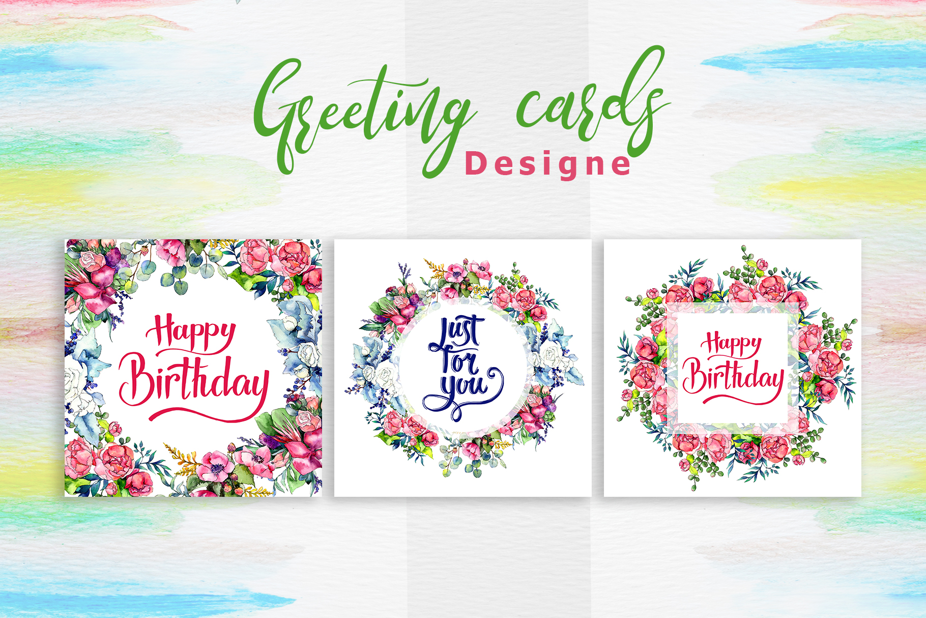 Spring bouquet PNG watercolor set  example image 7