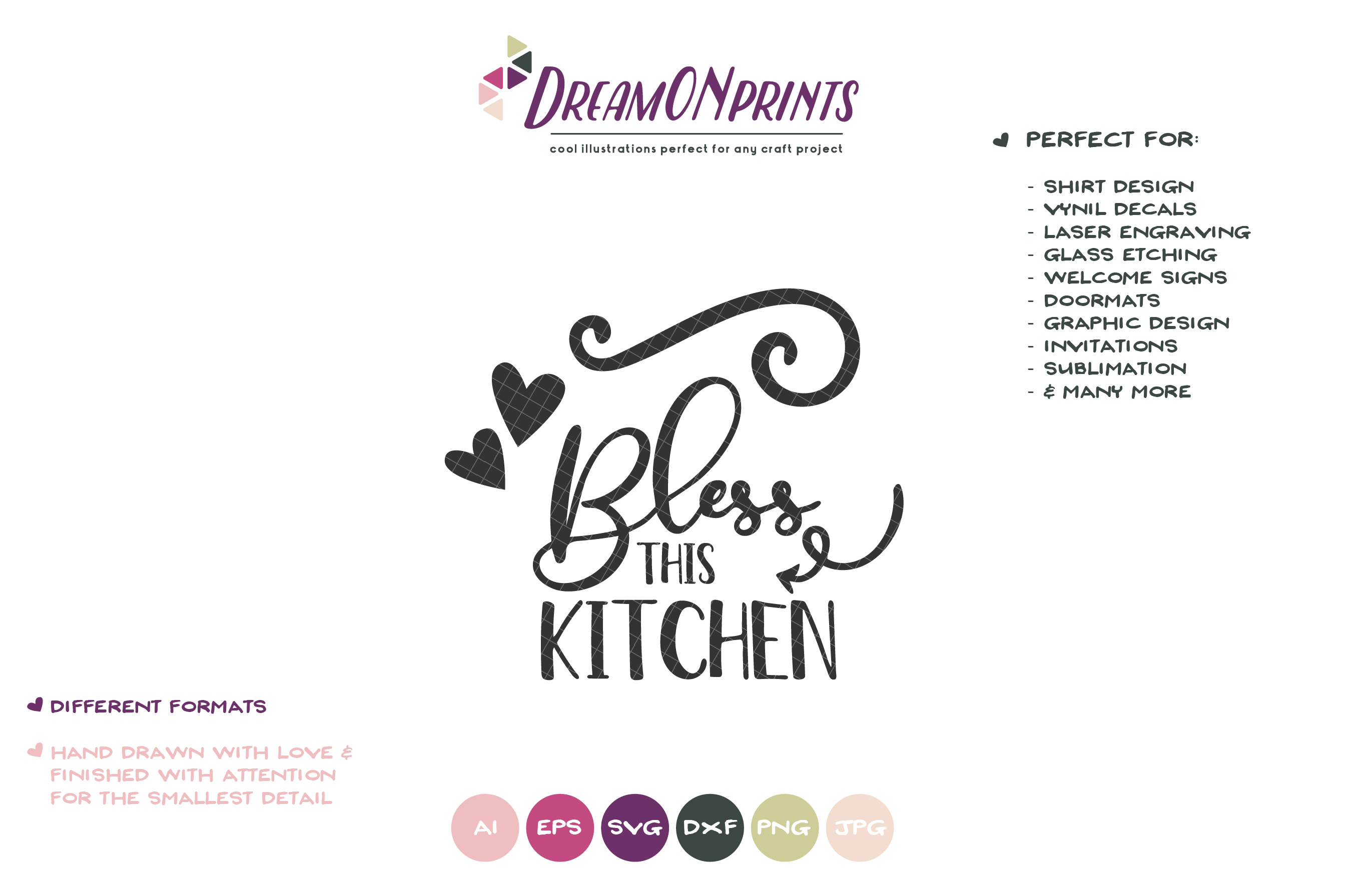 Bless this Kitchen SVG | Kitchen SVG Sign Making example image 2