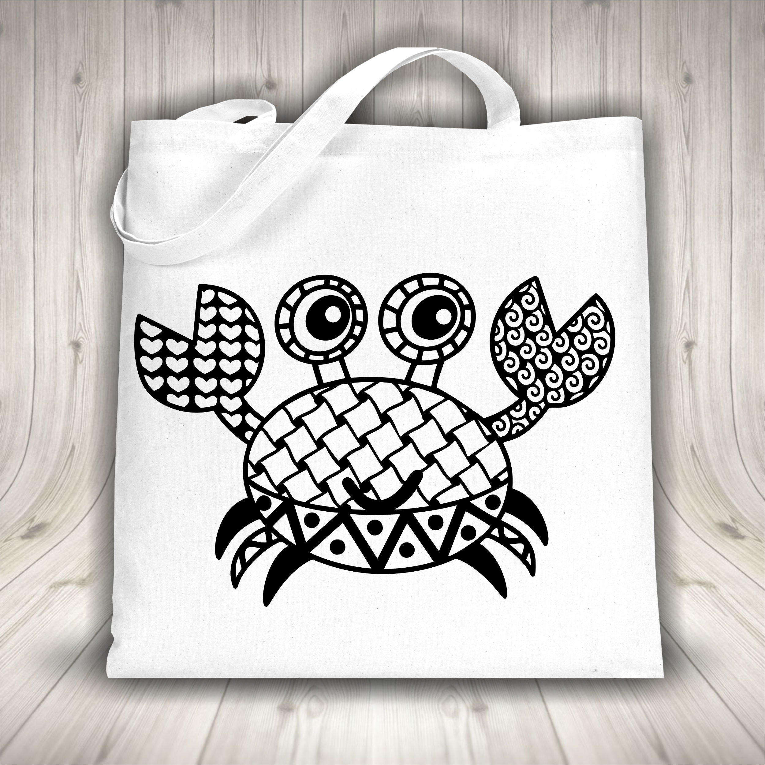 Crab SVG with Doodle patterns example image 2