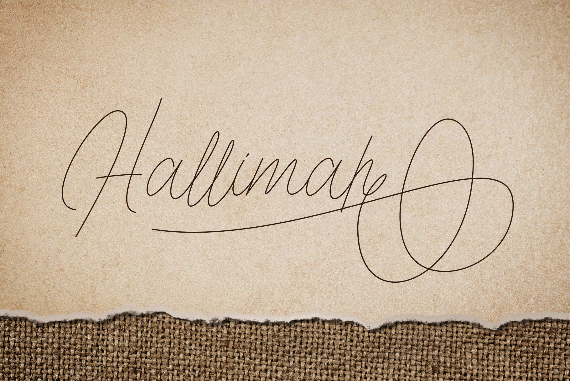 Hallimah Script Font example image 11