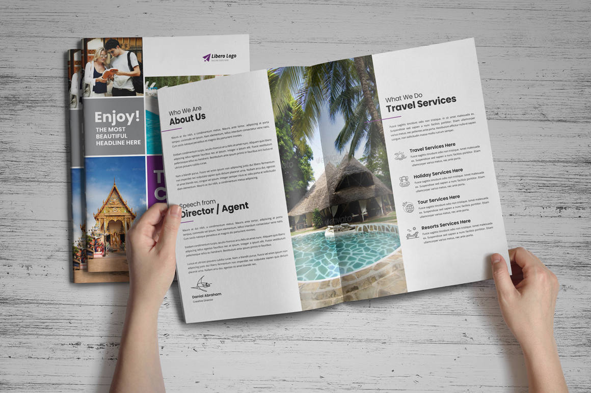 Holiday Travel Brochure Design v5 example image 10