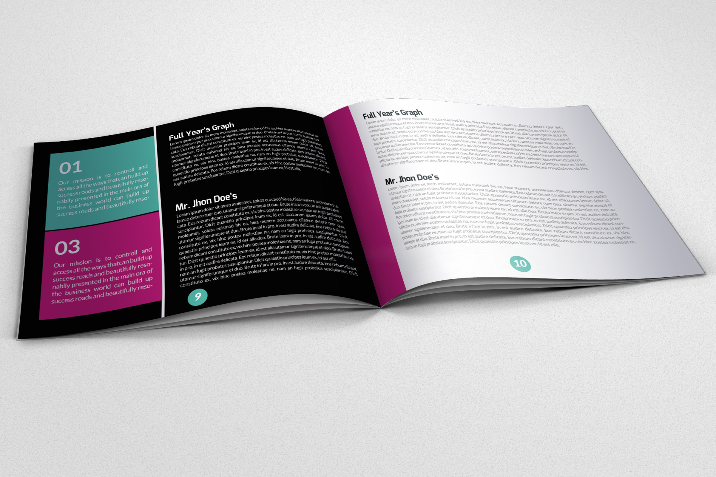 Business Square Trifold Brochure example image 2