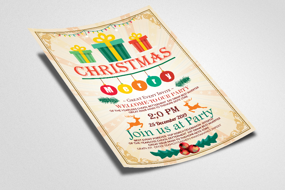 Christmas Party Event Flyer example image 2
