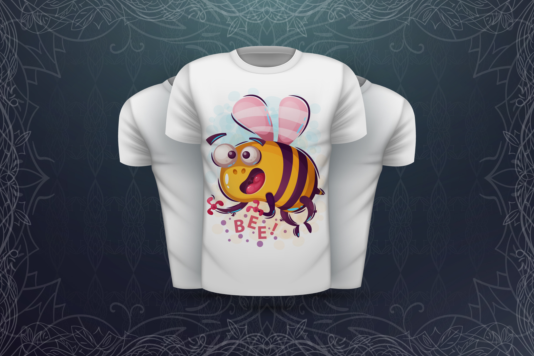 Set crazy bee and monsters example image 5