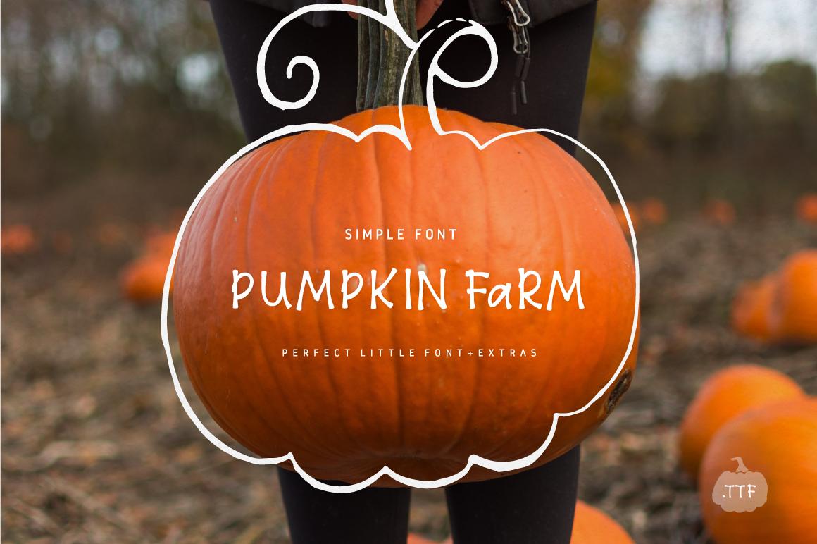 8$ Pumpkin Farm Font example image 1