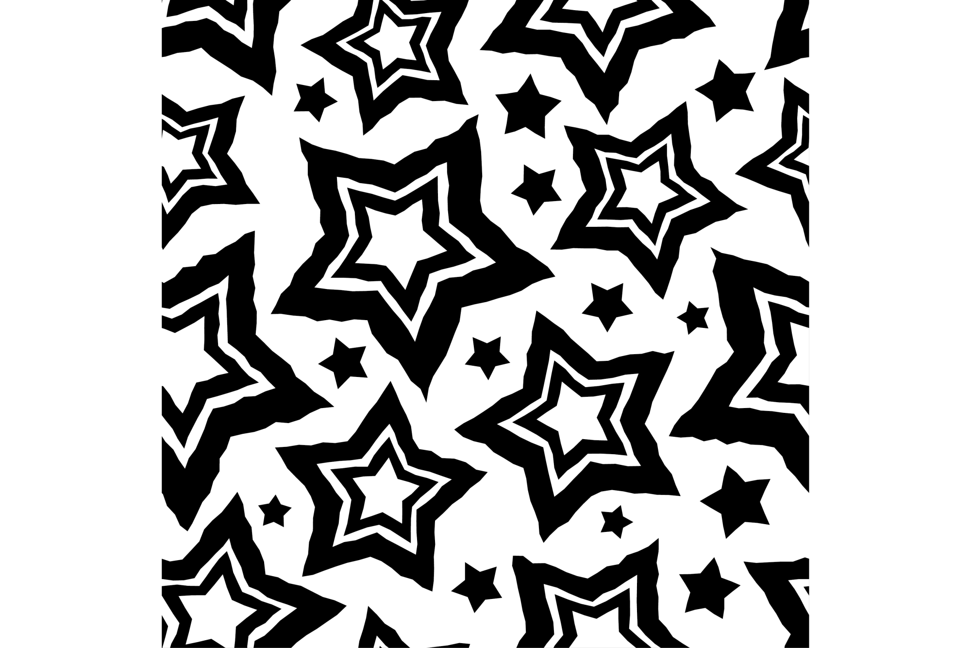 Set of 12 seamless vector backgrounds with decorative stars.  example image 9