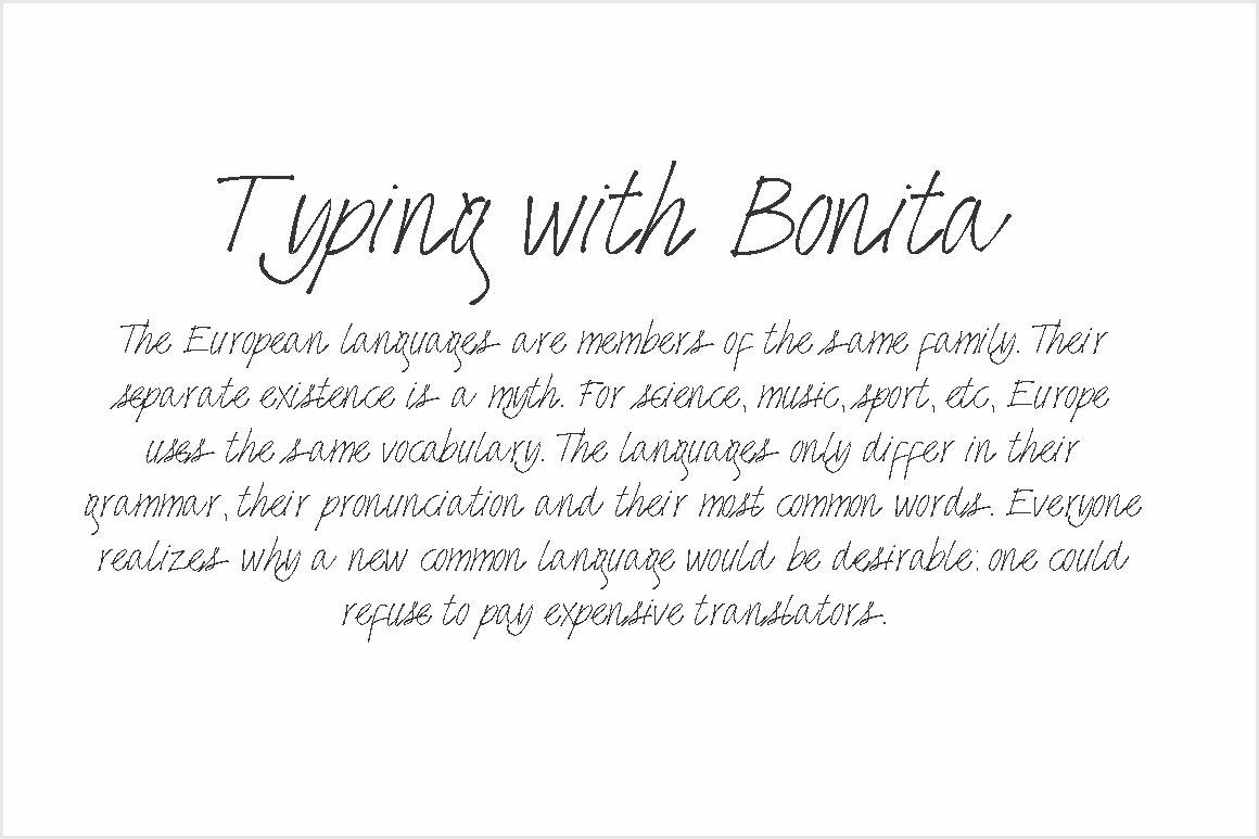 Bonita Font example image 2