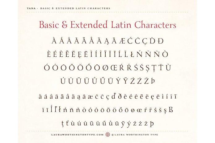 Yana Italic example image 4