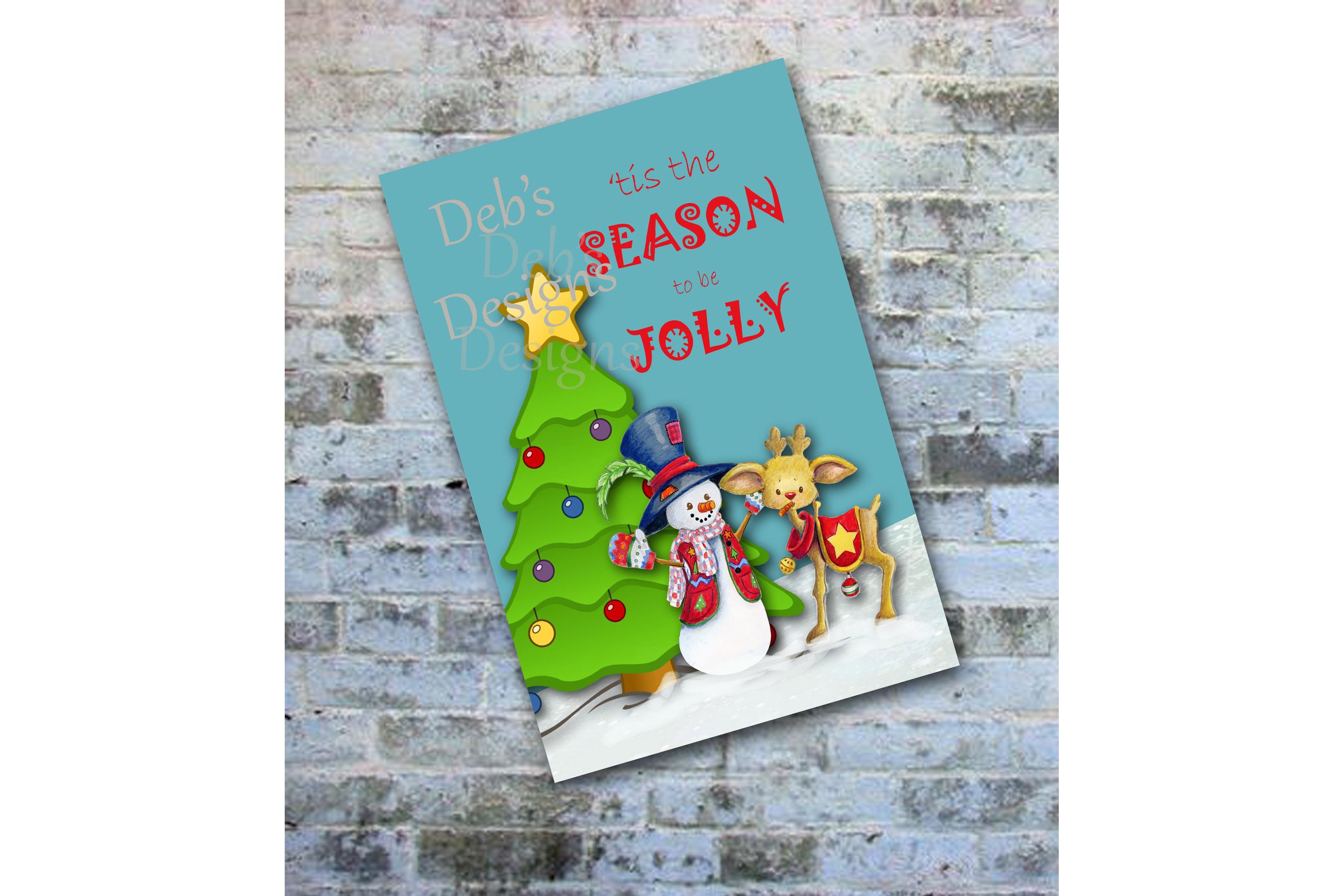 Digital Snowman Christmas Card, Printable Digital Christmas Card, Photo Christmas Card, Personalized Christmas Card, Happy Holidays Card example image 1