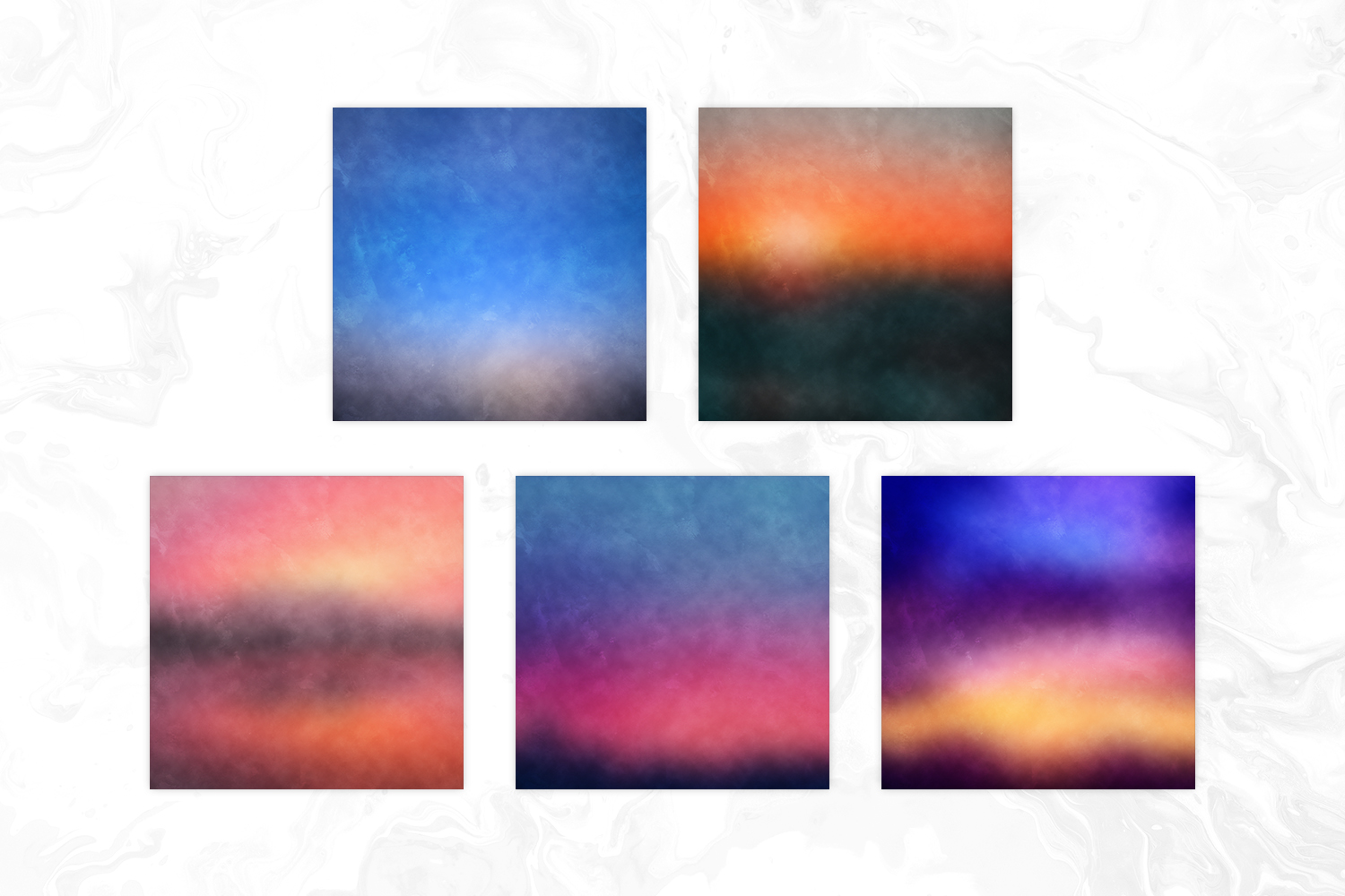 Blur Sunset Grungy Backgrounds example image 2