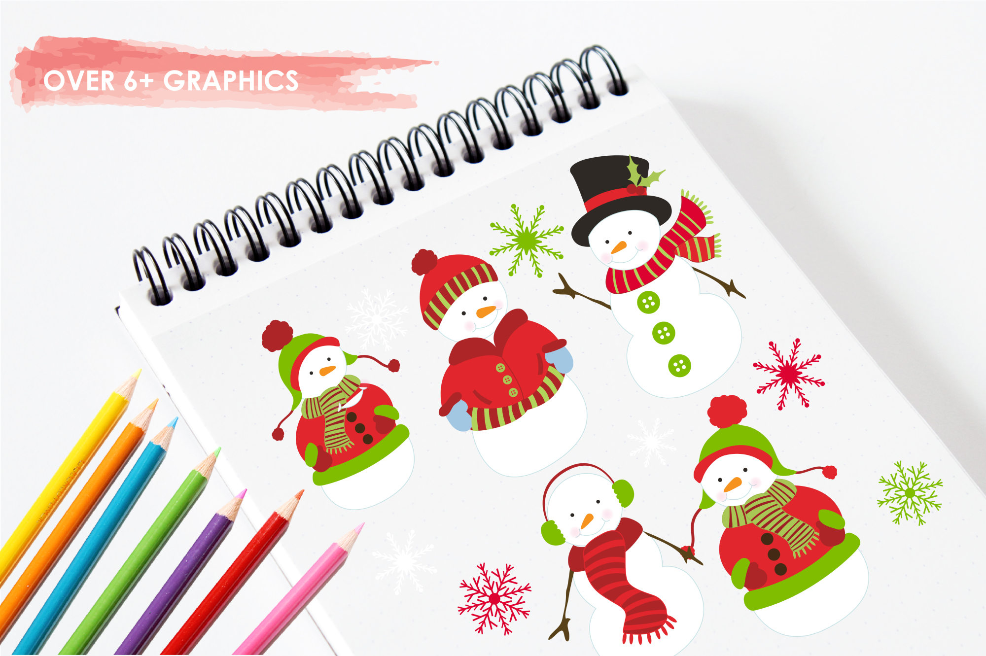 Mr. Snowman graphics and illustrations example image 3