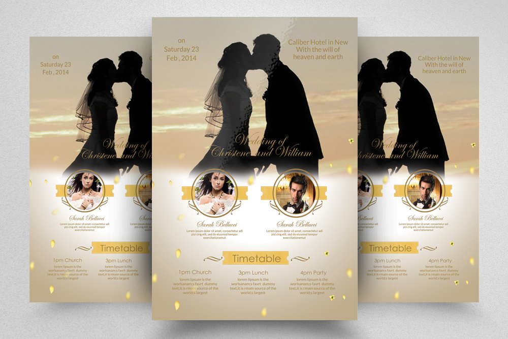 6 Wedding Invitaion Flyer Template example image 7