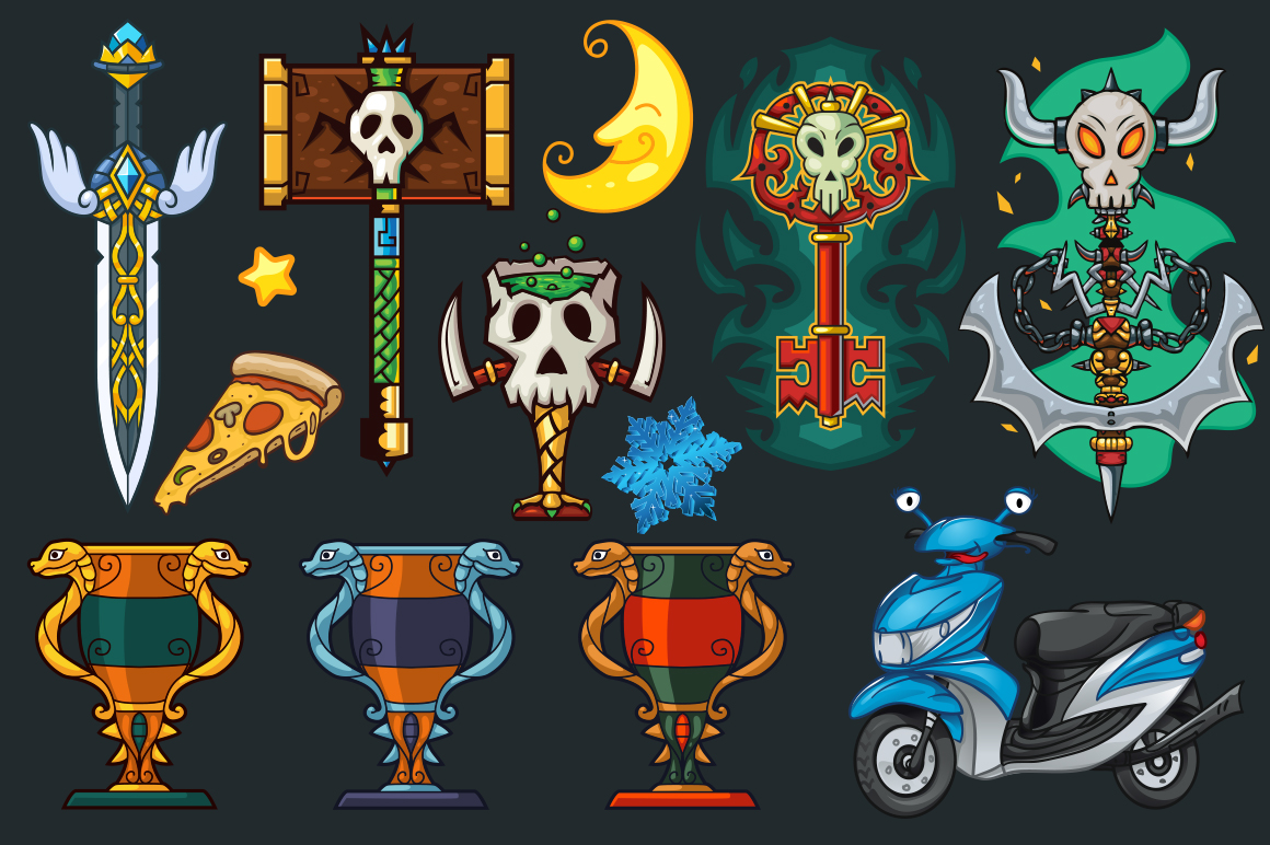 Cartoon Characters & Items Bundle example image 18