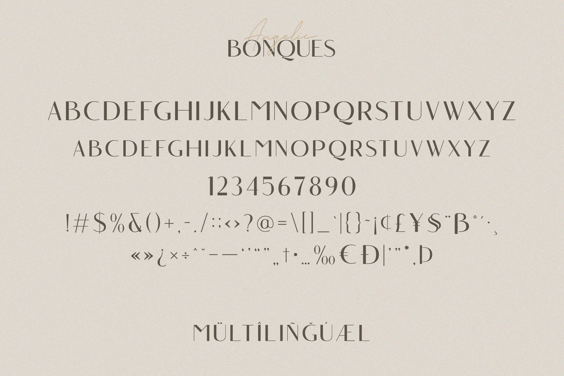 Angelic Bonques - Font Duo example image 6
