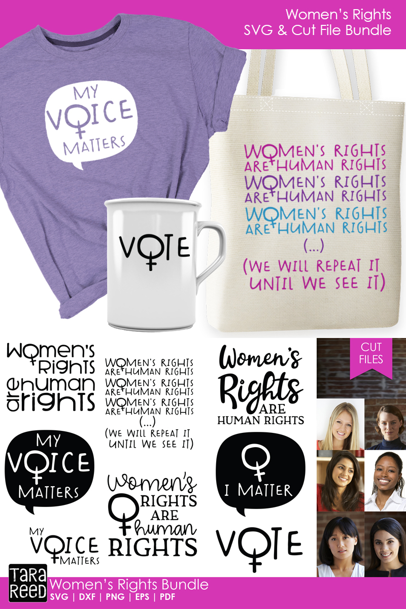 Women's Rights - Female Empowerment SVG files for Crafters example image 3