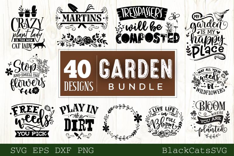 Garden SVG bundle 40 designs Gardening SVG bundle example image 4