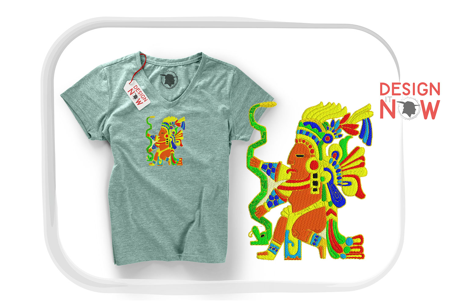 Inca Culture Embroidery Design, Inca Mythology Embroidery example image 2