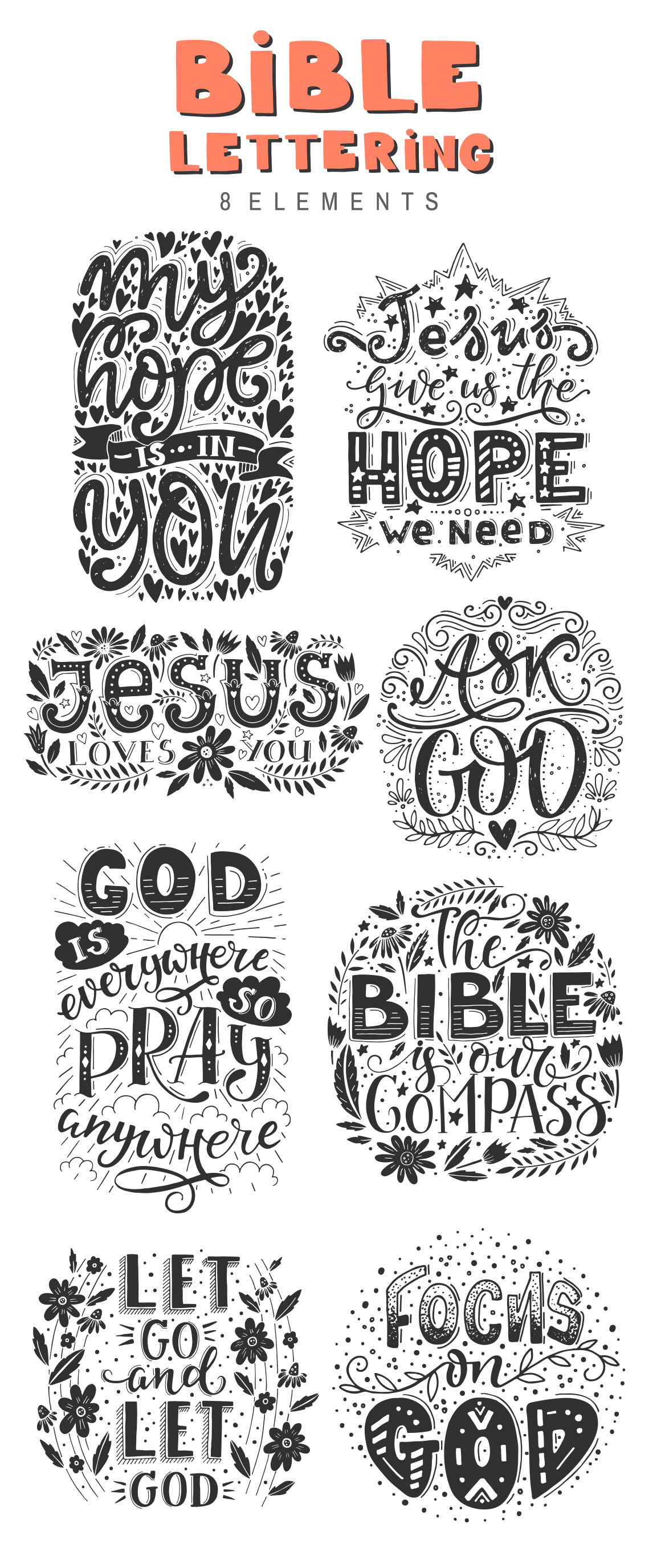 Bible lettering PACK example image 3