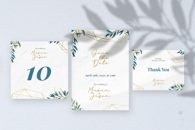Emola Watercolor Wedding Invitation example image 3