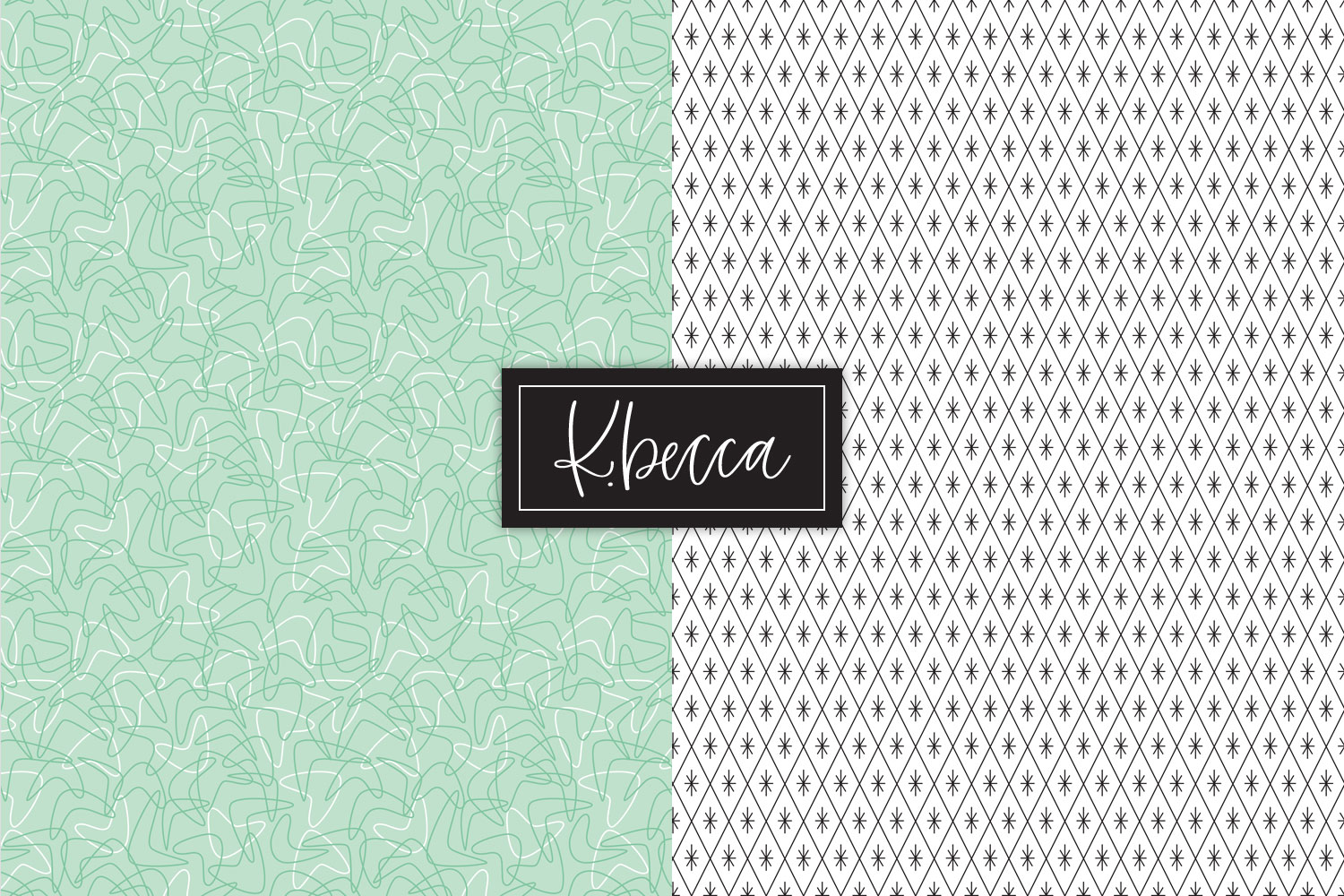 Retro 1950s Background Patterns Seamless example image 5