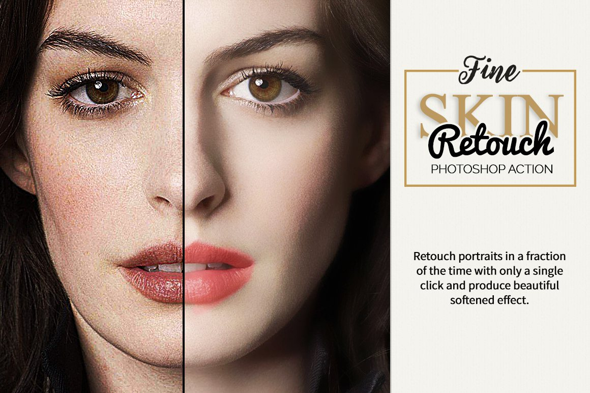 Fine Skin Retouch Photoshop Action example image 4
