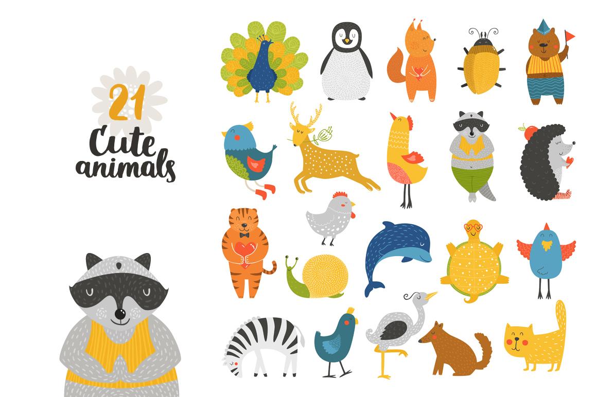 Cute Animals Bundle • 80% OFF example image 2