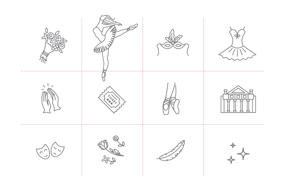 Ballet icon collection example image 3
