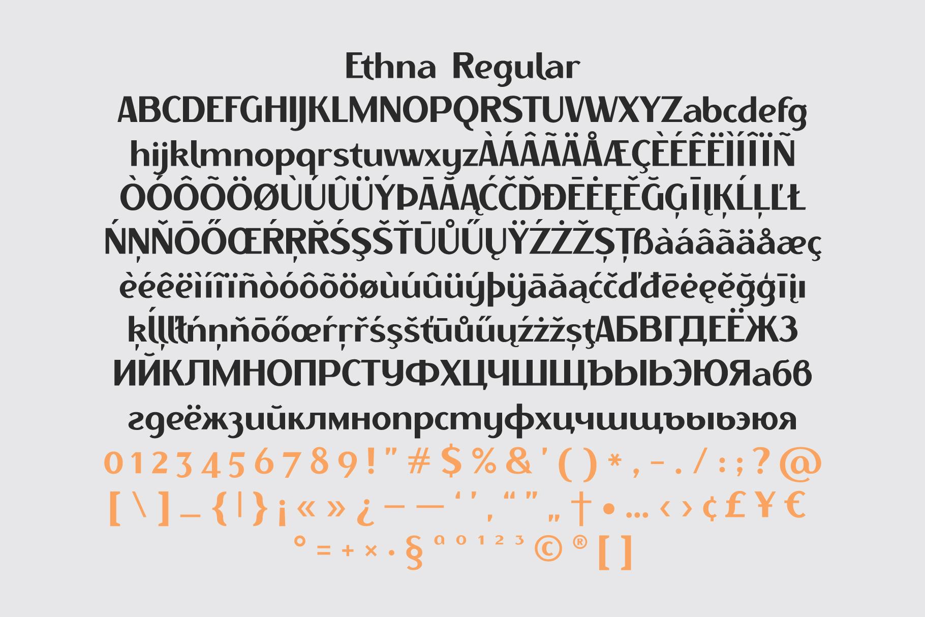 Ethna regular & thin example image 3