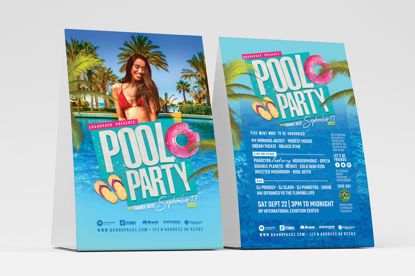 Pool Party Flyer Template example image 4
