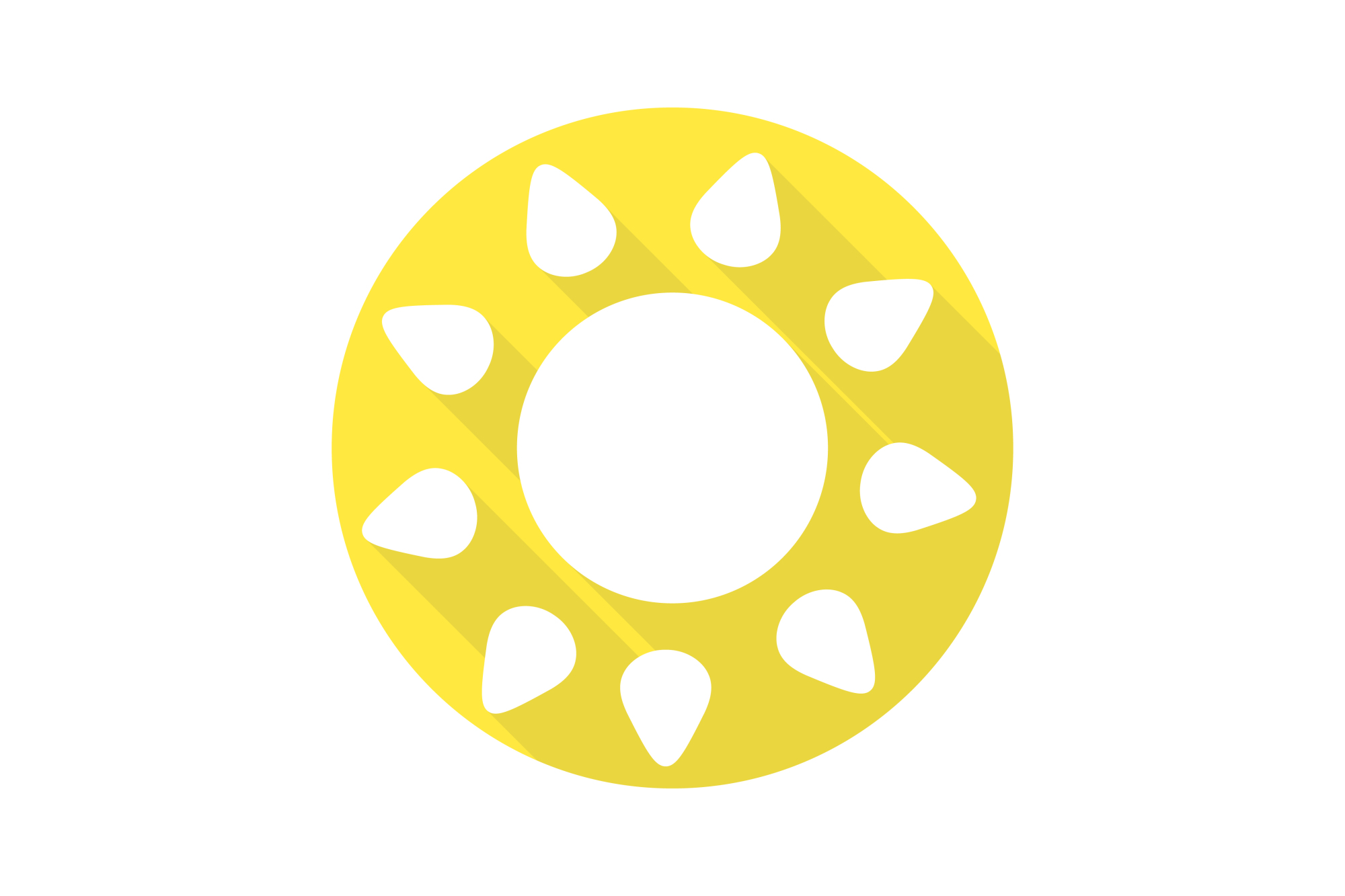 Vector sun icons set. Flat design. example image 11