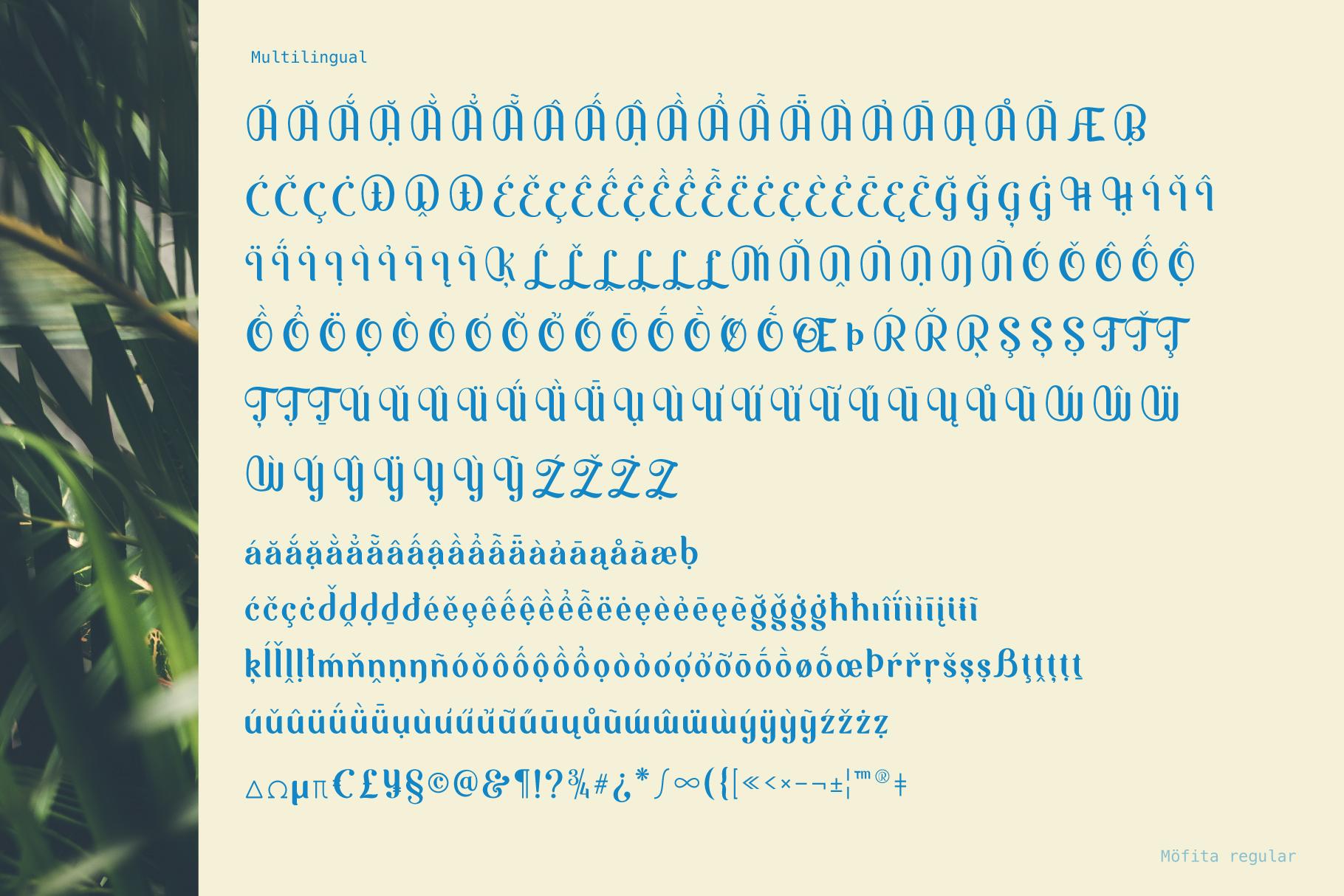 Möfita font example image 10