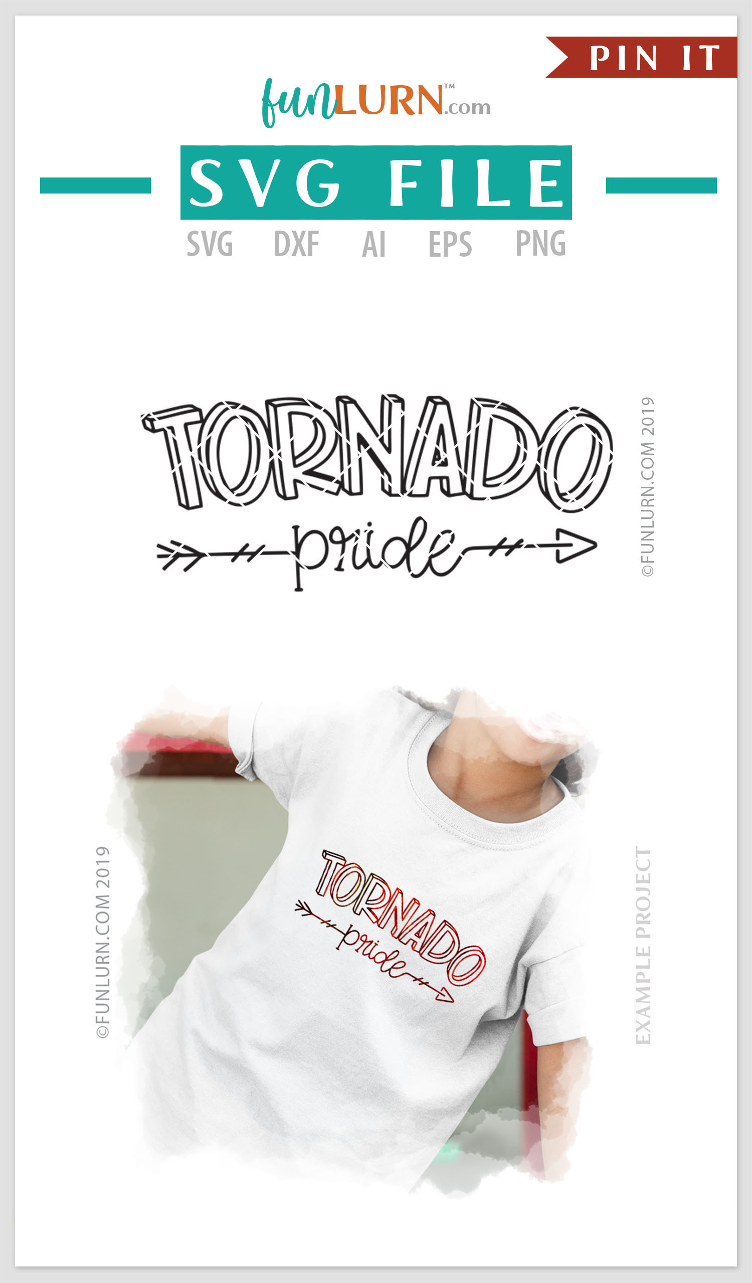 Tornado Pride Team SVG Cut File example image 4