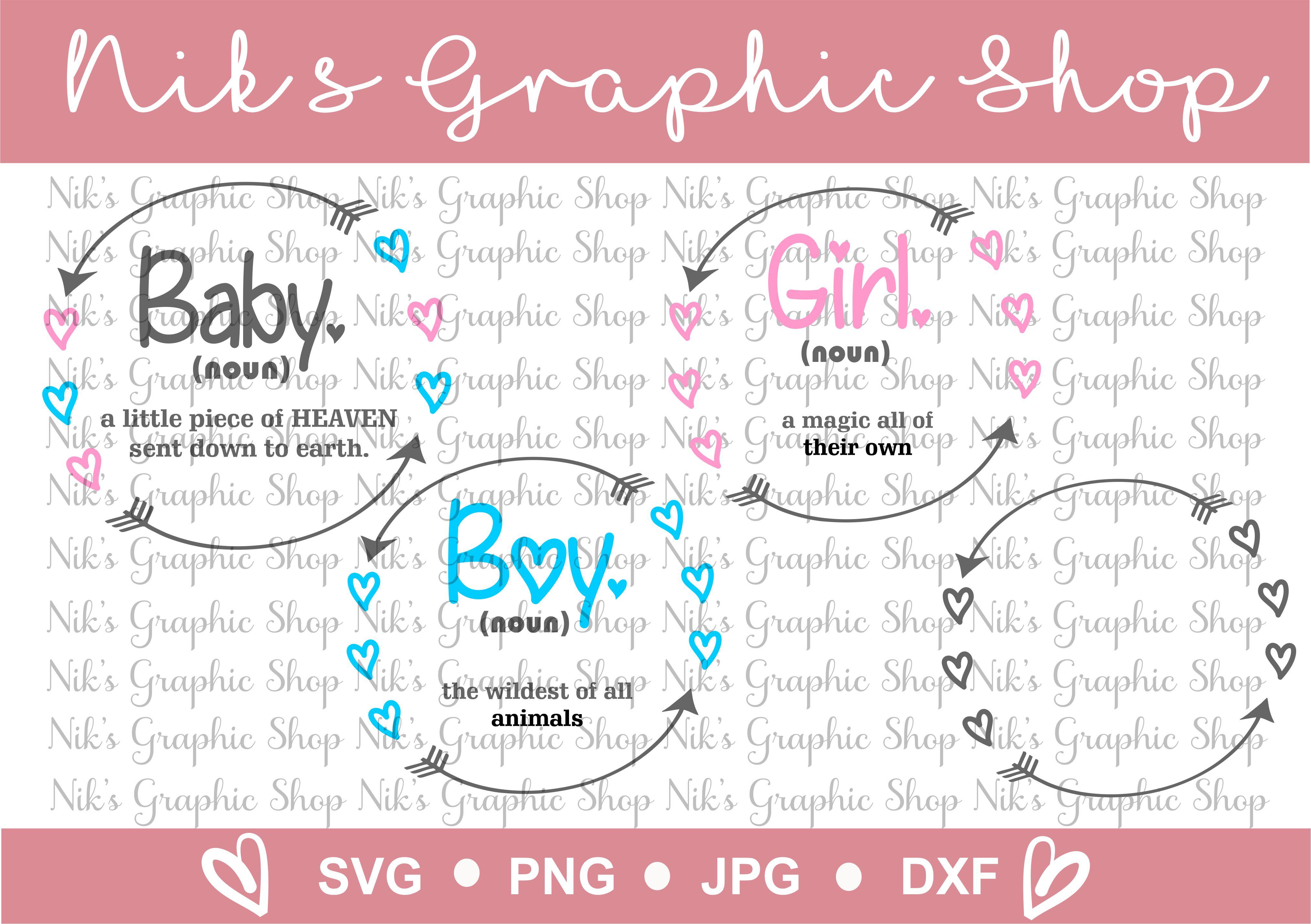 baby svg bundle, boy svg, girl svg, heart wreath bundle example image 4