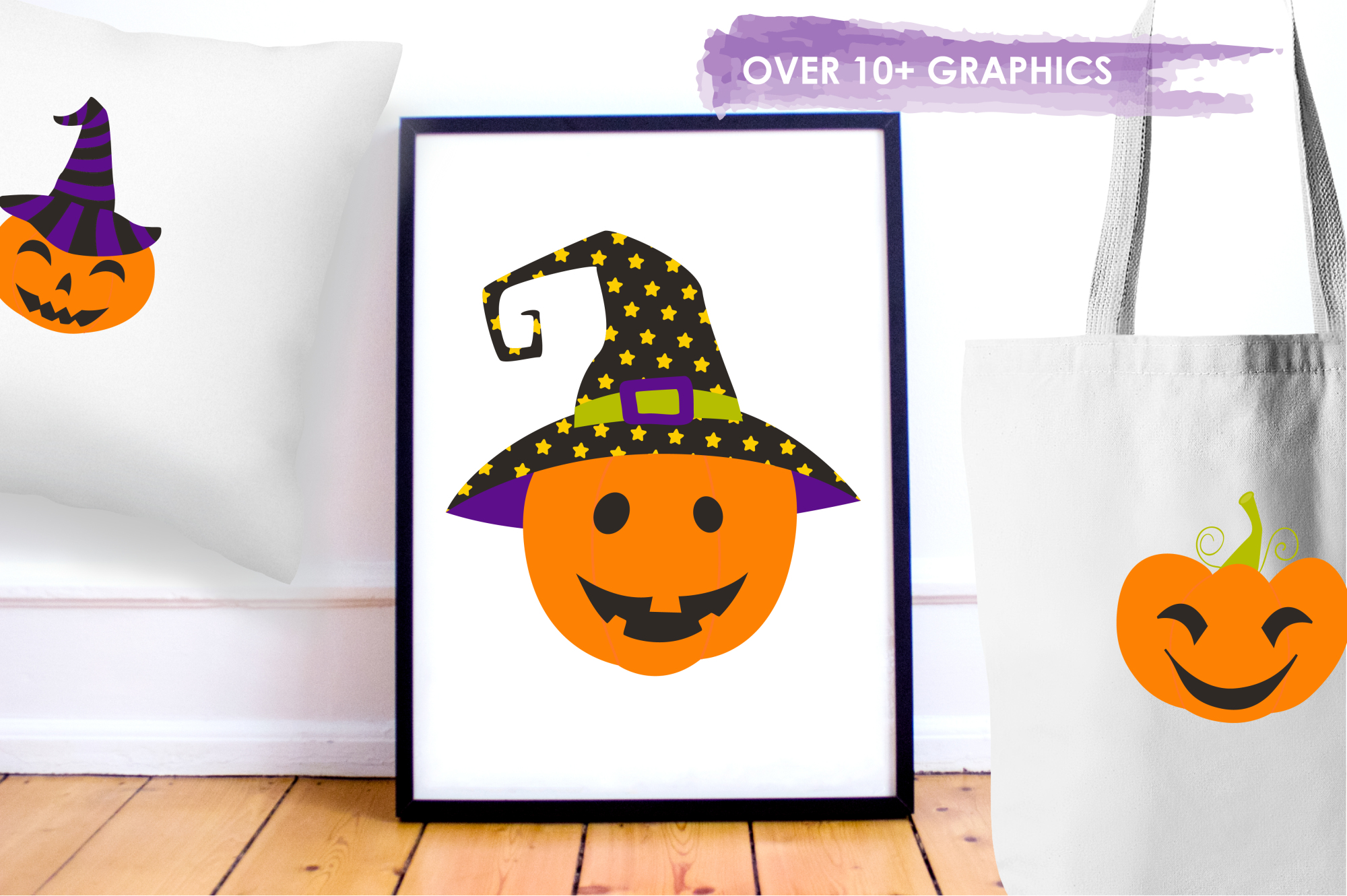 Jack O' Lanterns graphics and illustrations example image 5