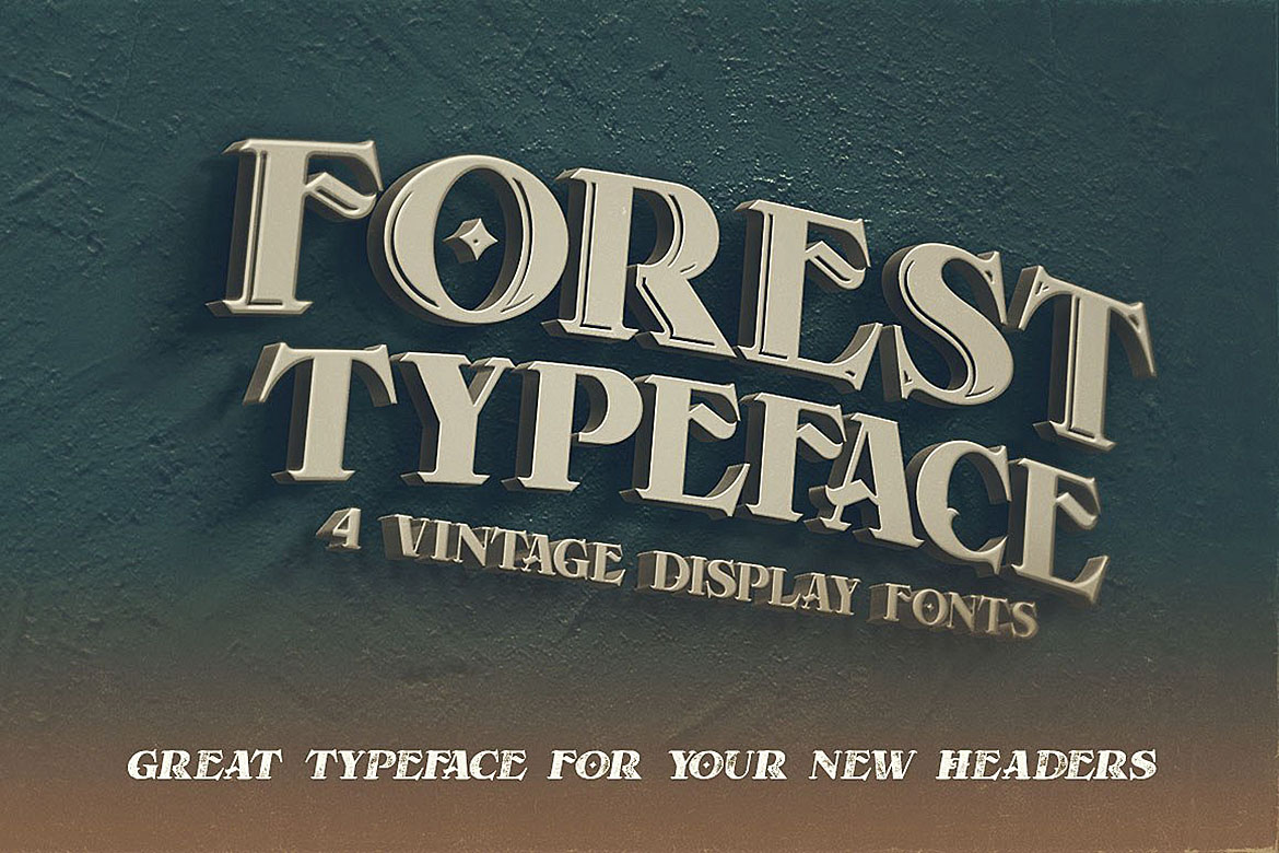 Forest - Display Font example image 3