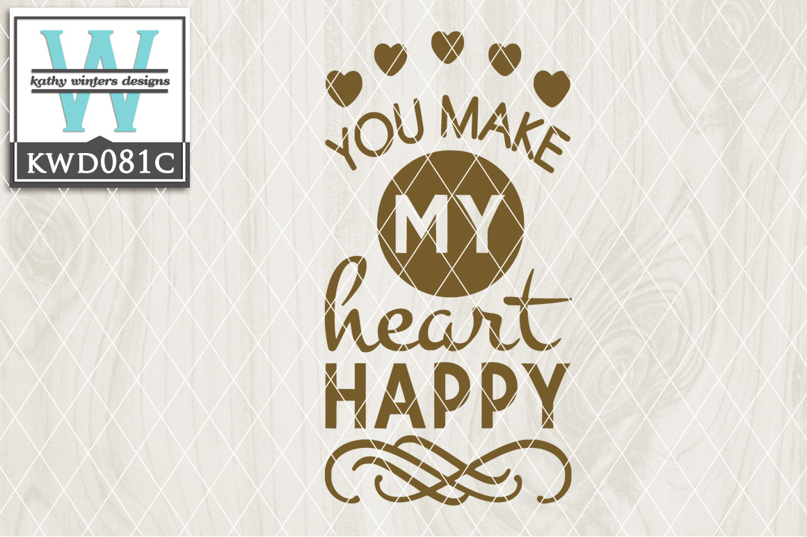 Happiness Cutting File KWD081C example image 1
