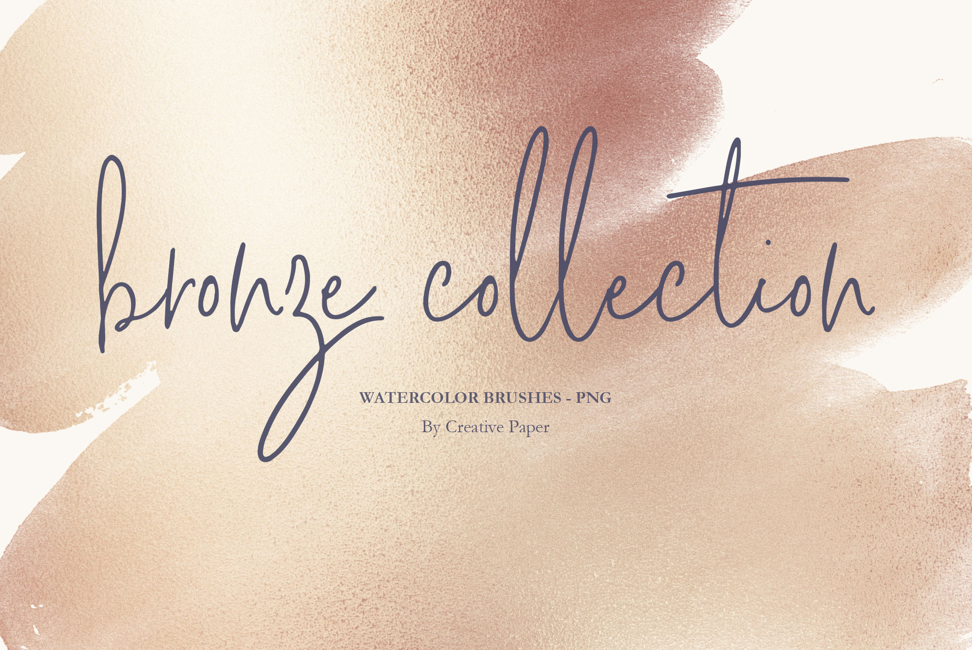 Bronze Watercolor Brushes PNG Backgrounds example image 1