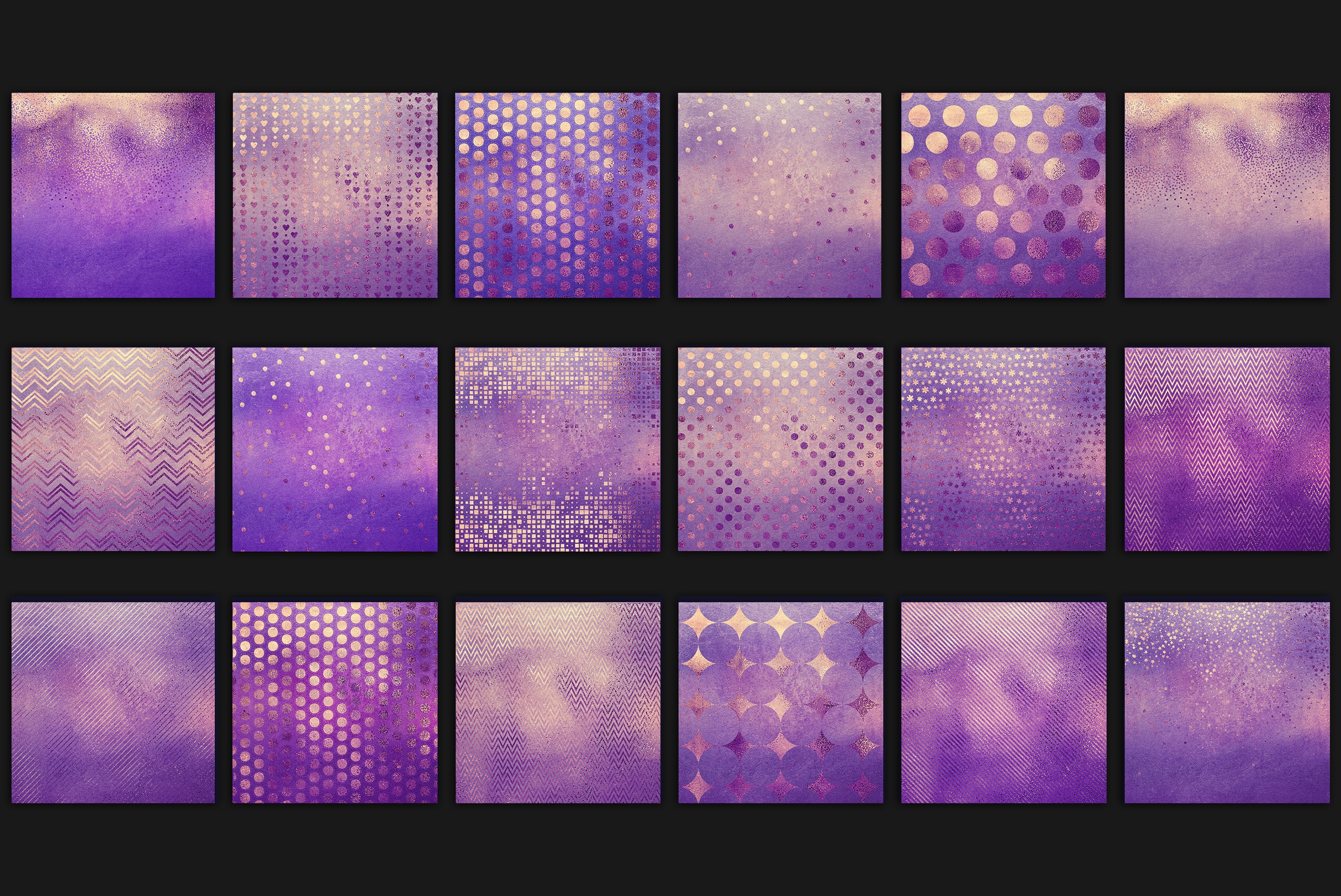Purple Gold Pattern & Textures example image 3