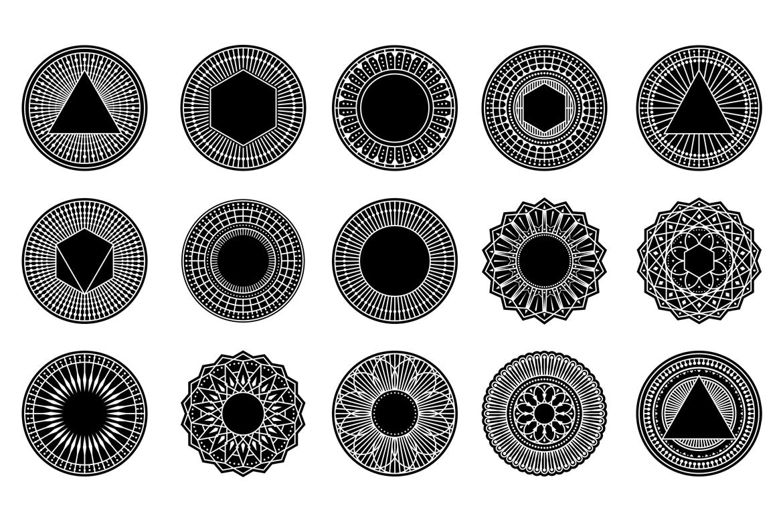 100 Geometric Costum Shapes - CSH example image 10