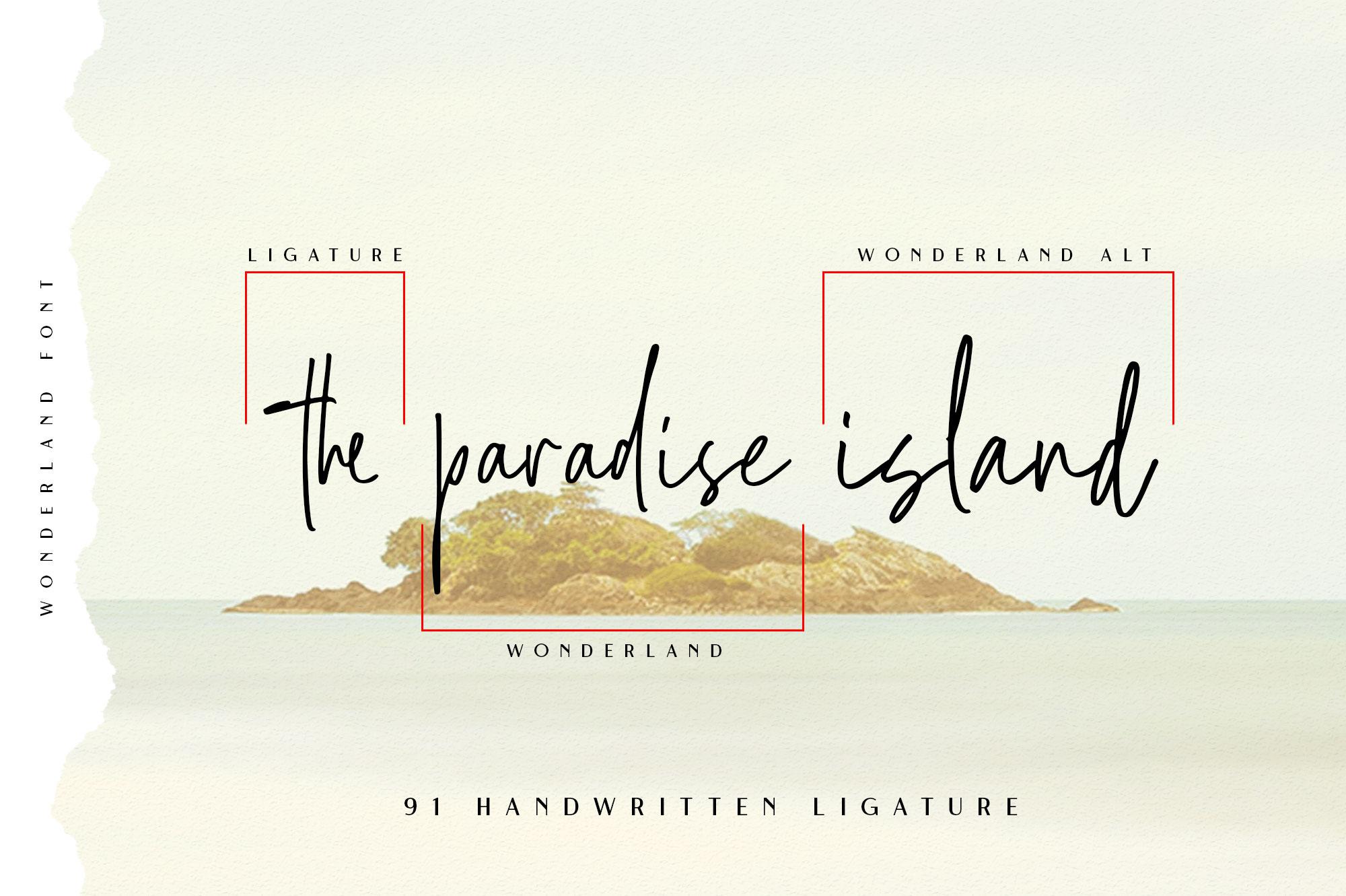 Wonderland | Script & Sans Serif example image 5