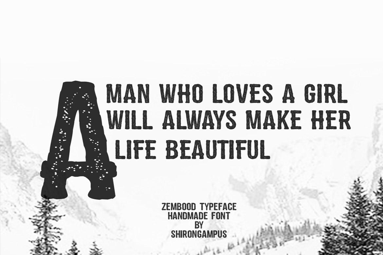 Zembood Typeface example image 2