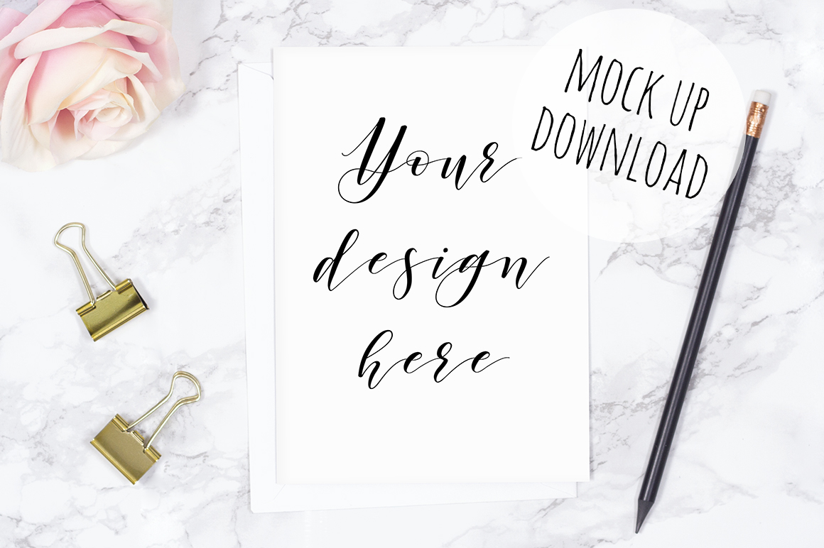 Pretty Card or Invite Mock Up Bundle example image 6