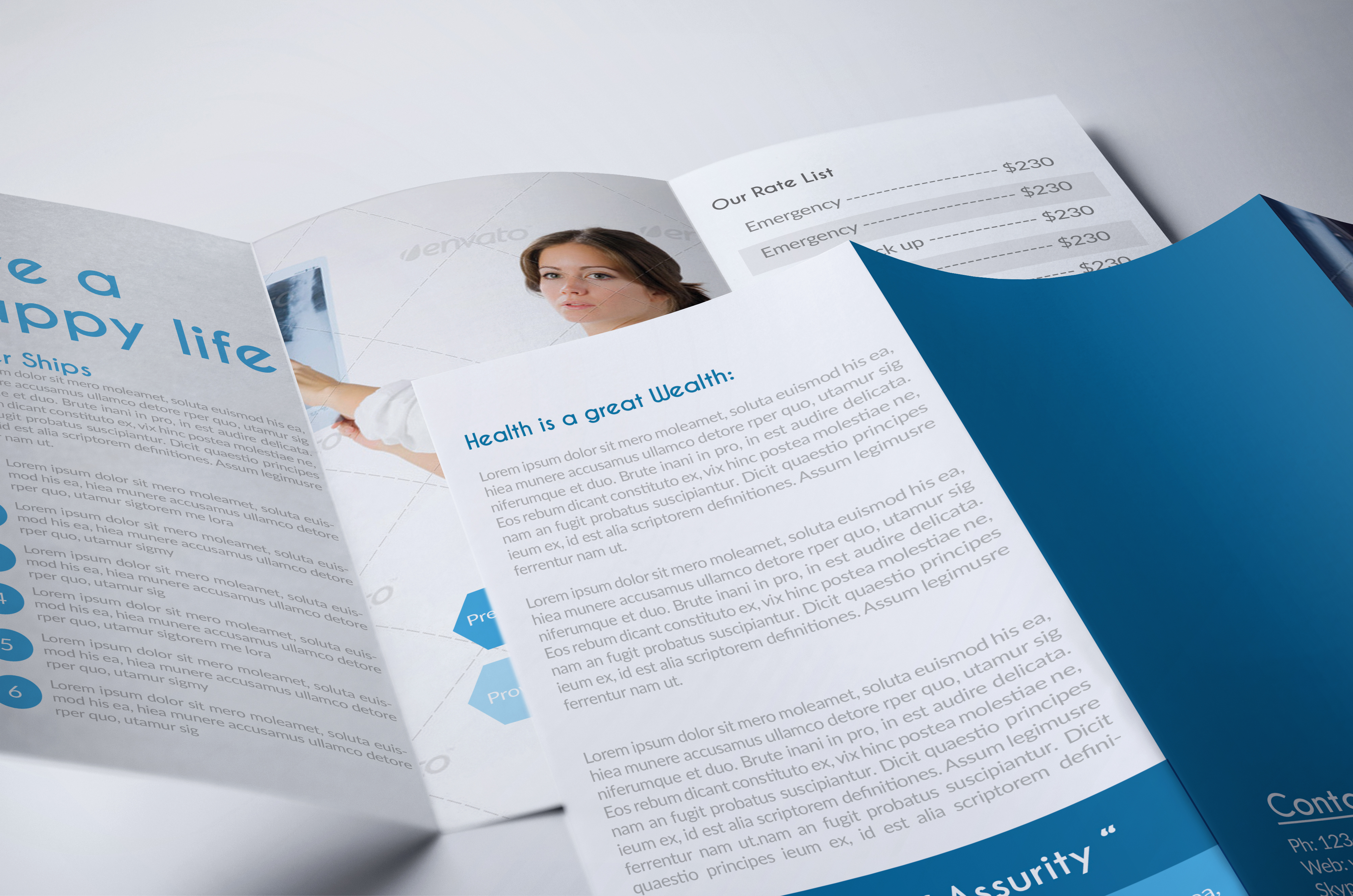 Medical Doctor Trifold Brochure example image 4