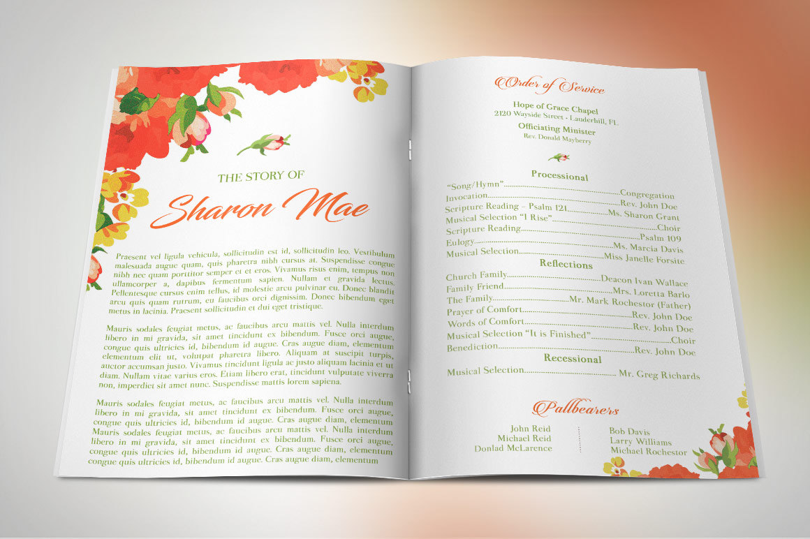 Best Seller Funeral Program Template Bundle example image 7