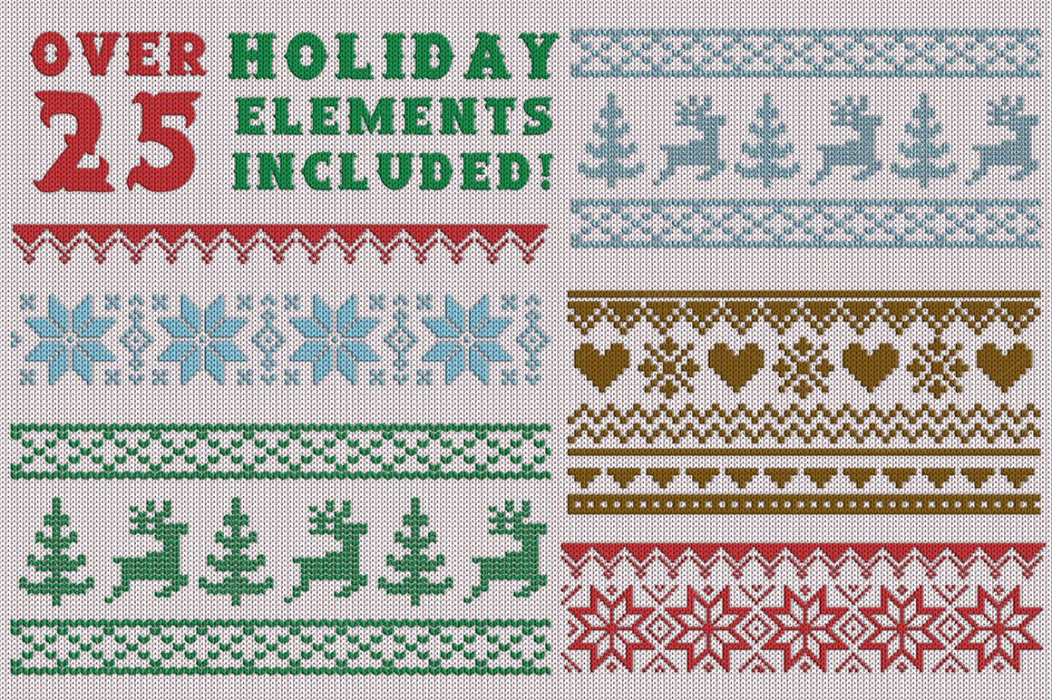 Christmas Knit Flyer Text Effect Creator example image 3