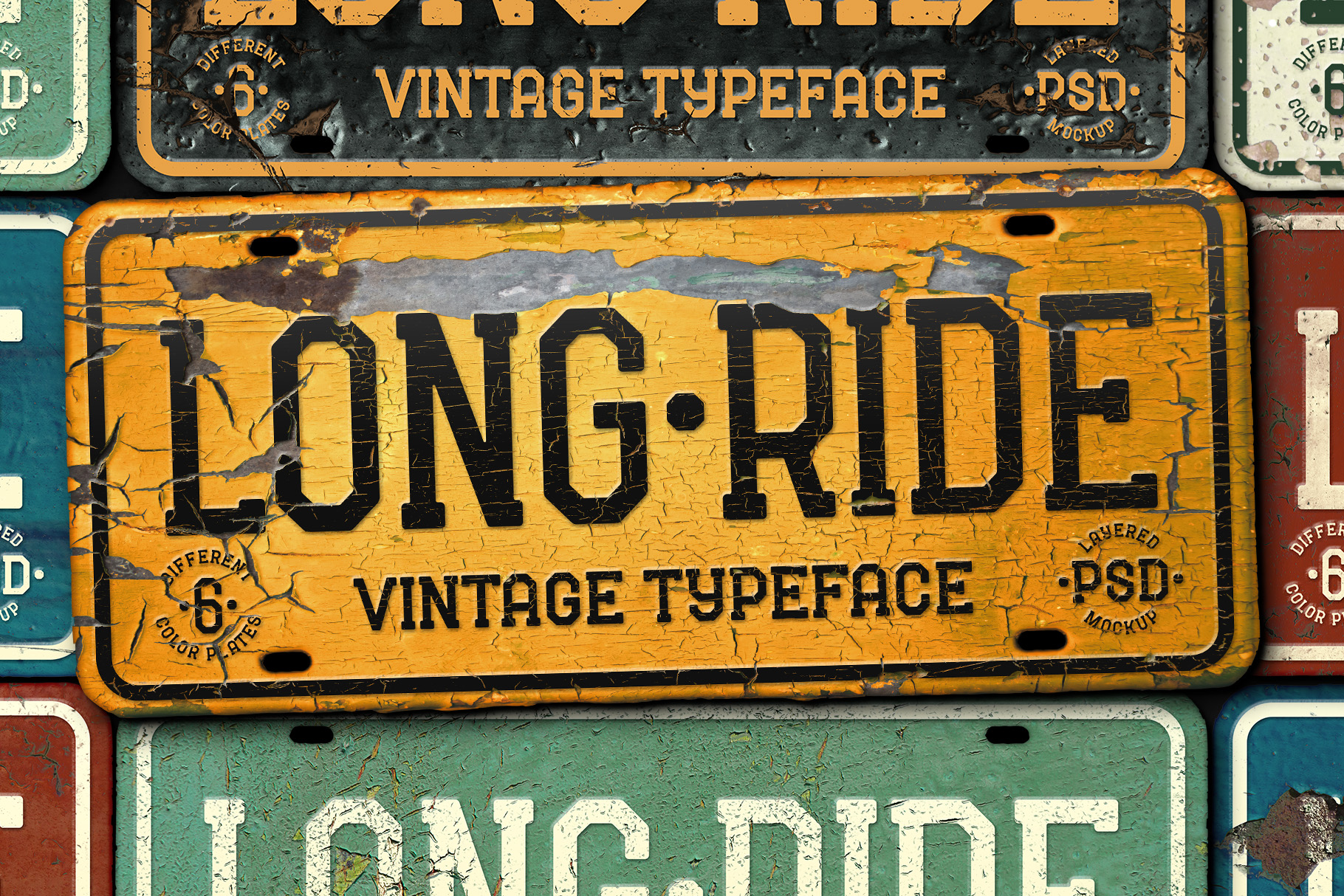Long Ride. Font & Mockup example image 1