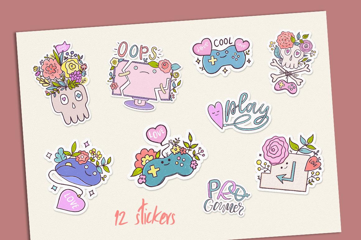Cute Game. Illustration Set. example image 4