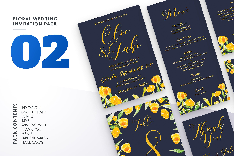 Floral Wedding Invitation Bundle example image 6