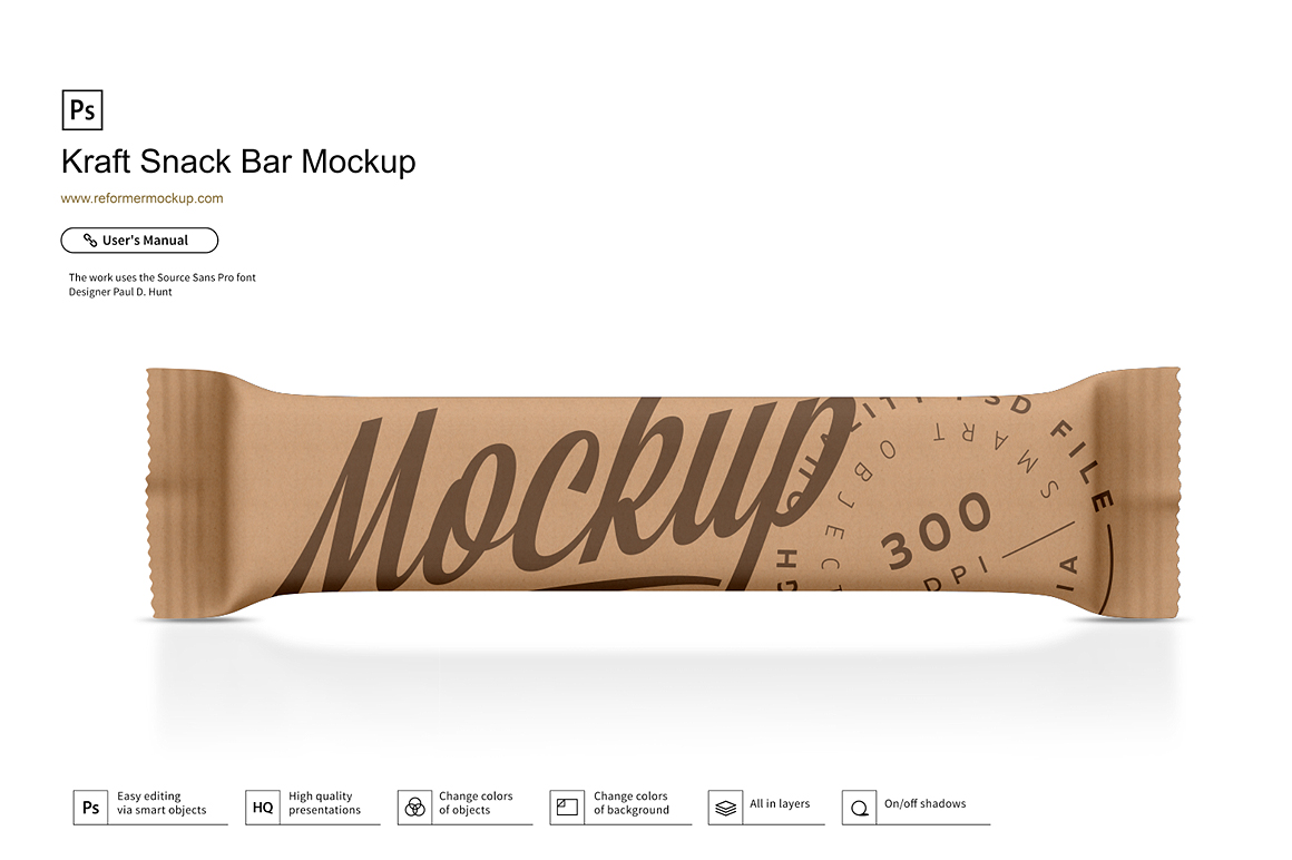 Kraft Snack Bar Mockup example image 1